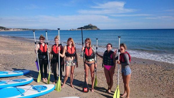 paddleboarding marazion