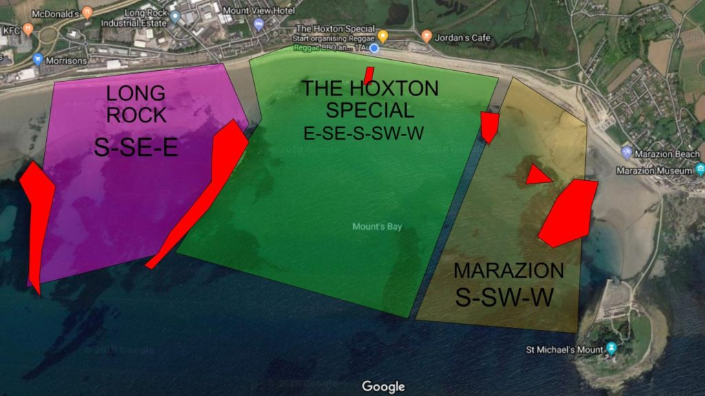 kitesurfing map of marazion