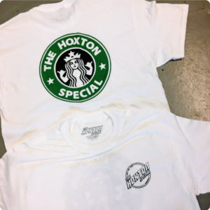 Hoxton Cafe Tee Shirt Front and Back