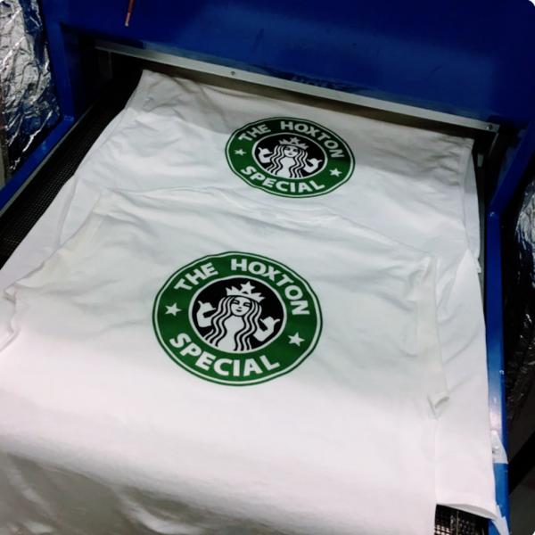 Hoxton Cafe Tee Shirt Press